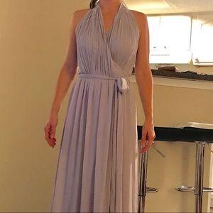 Joanna August Dresses - Joanna August silver bells halter wrap dress